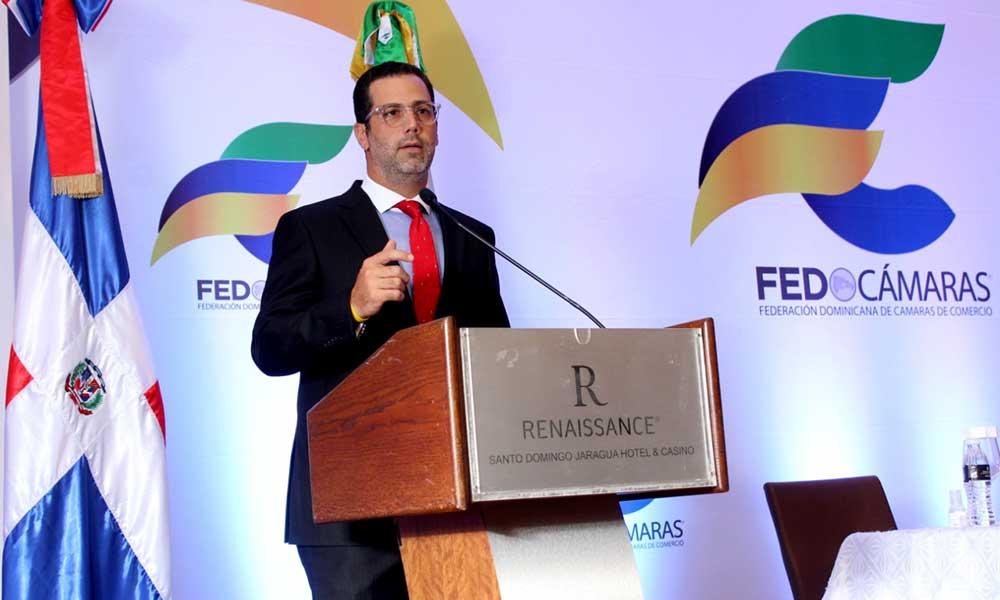 Manuel Luna Sued, presidente de la Federación Dominicana de Cámaras de Comercio (Fedocámaras)